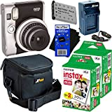 Fujifilm Instax Mini 90 Neo Classic Instant Film Camera (Black) + Instax Mini Instant Film (40 sheets) + NP-45A Battery & AC/DC Battery Charger + Xtech Camera Case + HeroFiber Gentle Cleaning Cloth