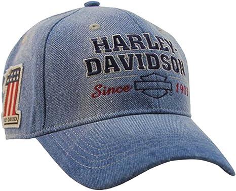 Harley-Davidson para Hombre Old Glory Lavar Azul Tela Vaquera ...