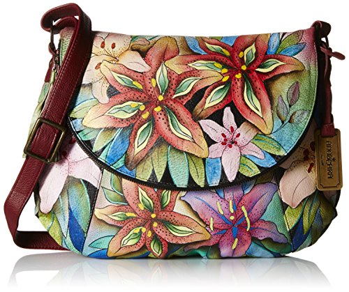 Anuschka Large Flap-Over Convertible LL, Luscious Lilies, One Size