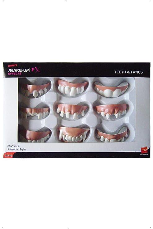 Smiffys Boite De 9 Dentiers Assortis 9a80372fd1fe