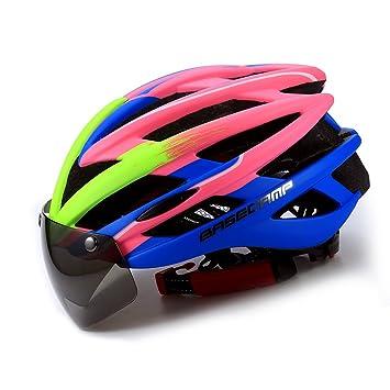 Casco de bicicleta con visera visera, King Lead Unisex geschützter bicicleta casco para ciclismo Racing