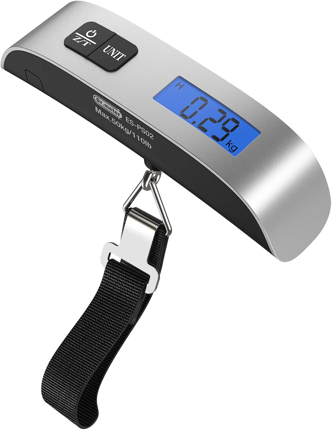 Digital Luggage Weight Scale Portable Scale for Travel Household and Gift Temperature Sensor Battery Indicator LCD display 1 Pack