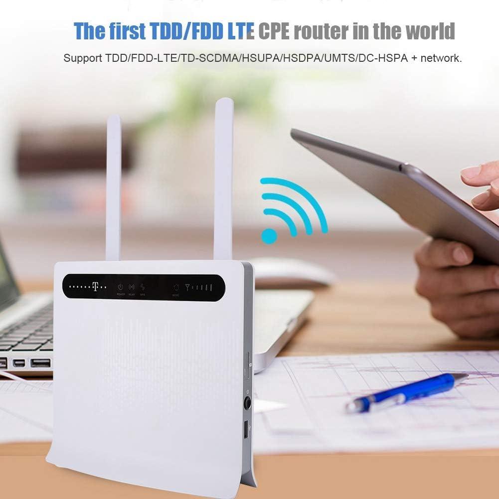 1 Puerto USB 2 Puertos Telef/ónicos,Compatible con Tarjeta SIM,Router Inal/ámbrico Bewinner 150 Mbps 4G LTE CPE Enrutador WiFi Inal/ámbrico,TDD//FDD LTE CPE Enrutador,4 Puertos LAN RJ45