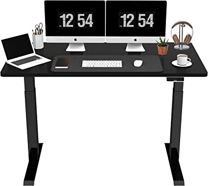 Sanodesk Ez1 Electric Height Adjustable Desk With Table Top 2 Way Telescopic With Collision Protection Memory Control And Soft Start Stop Function Black Amazon Co Uk Kitchen Home