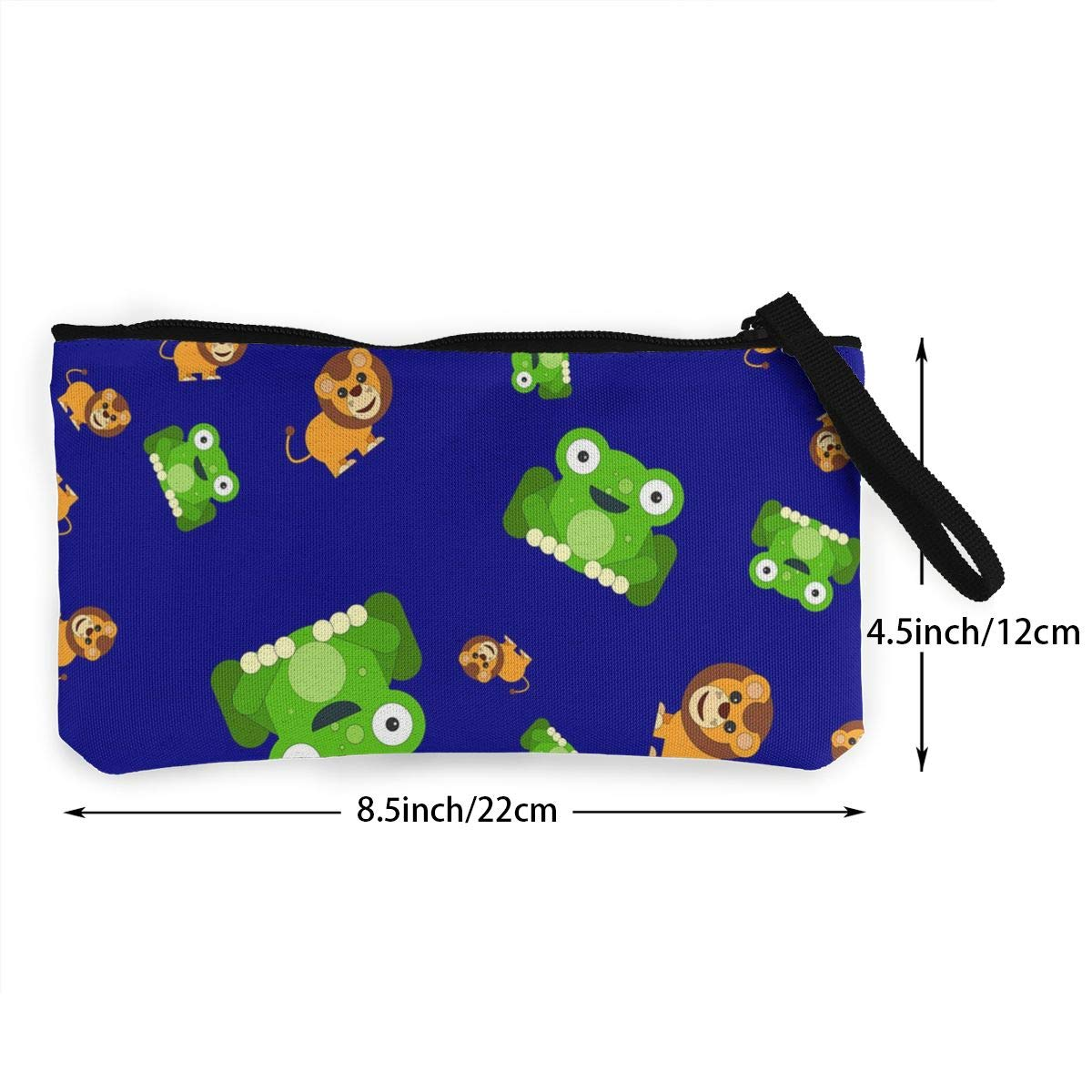 Yamini Navy Blue Frog/&Lion Pattern Cute Looking Coin Purse Small and Exquisite Going Out to Carry Purse