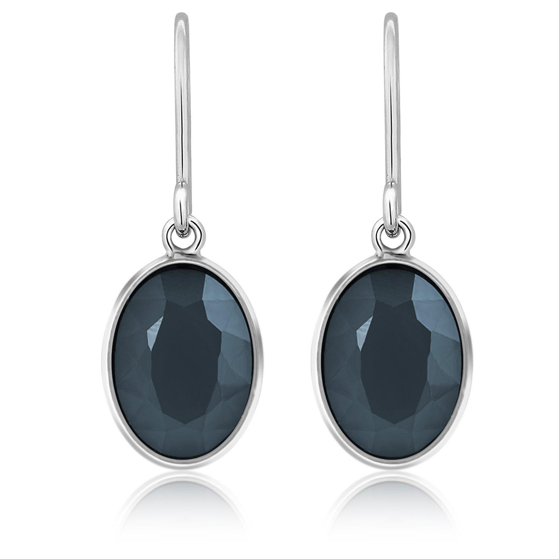 Dangle Earrings,UHIBROS Women\'s Stone Crystal Dangle Drop Earrings (Grey)