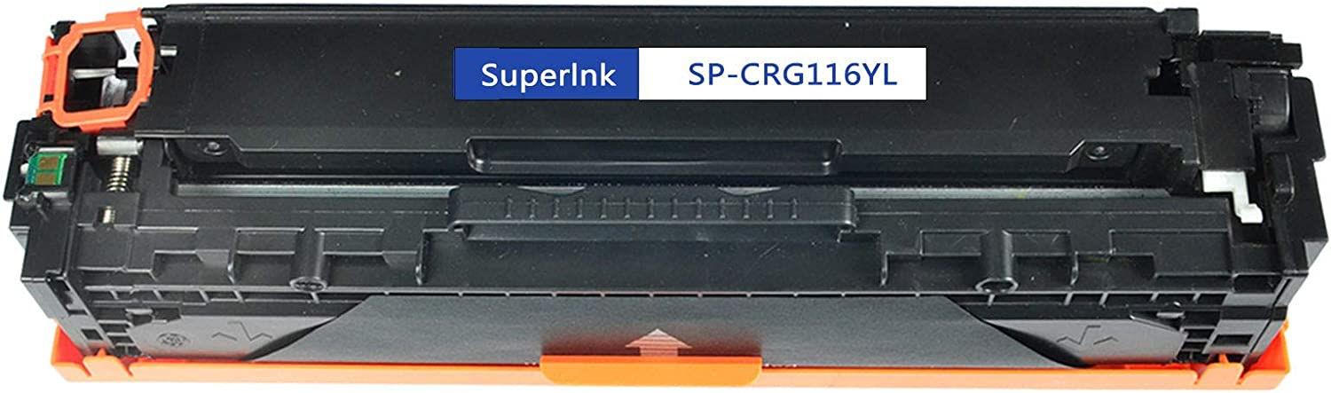 SuperInk 1 Pack High Yield Compatible Toner Cartridge Replacement for Canon 116 CRG116 CRG-116 C116 C116 1977B001AA Yellow use in ImageClass MF-8030 MF-8050 MF8050CN MF-8080 i-Sensys LBP5050 Printer