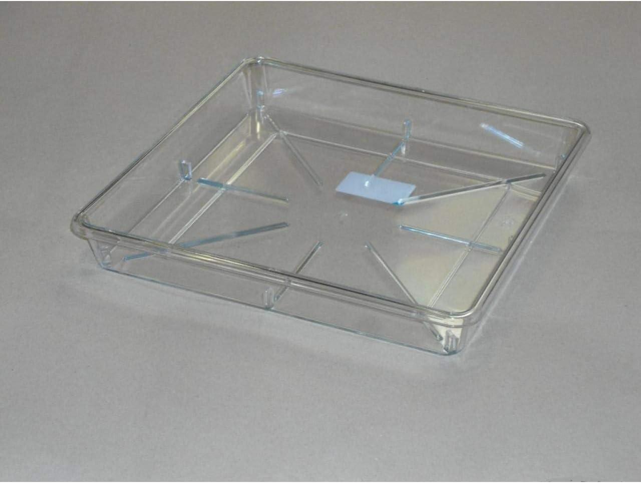 Herstera Plato Cuadrado para Maceta Transparente 27 x 4 cm: Amazon ...