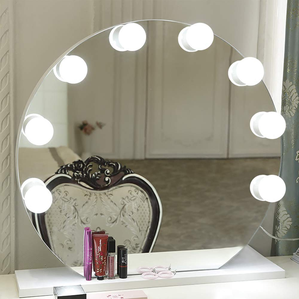 Makeup Mirror Vanity LED Light Bulbs Kit for Dressing Table with Dimmer and Power Supply Plug in, Linkable, Mirror Not Included (Bar) GreenClick