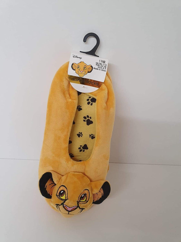 Disney The Lion King Simba Ladies Women/'s Slippers Orange Primark