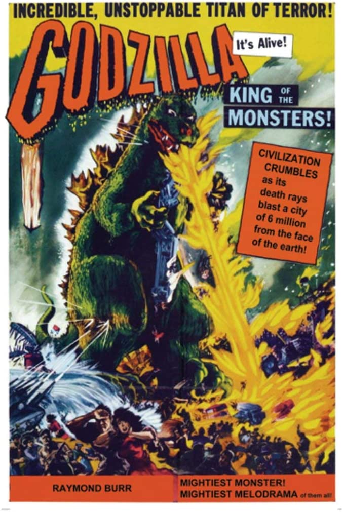LAMINATED Godzilla King of Monsters Vintage Movie Poster Print 24x36 Inch