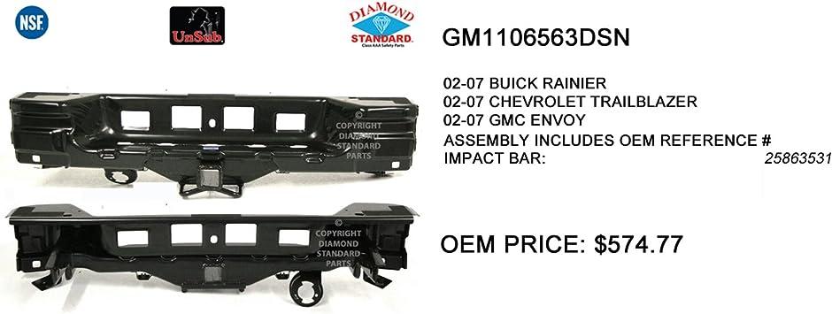 Rear Bumper Reinforcement For 2002-09 Chevy Trailblazer GMC Envoy Steel Primed