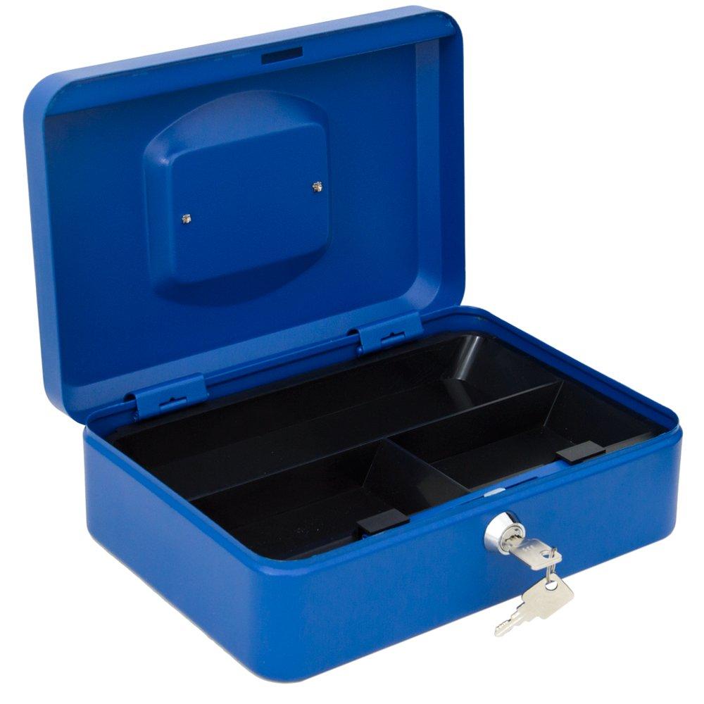 Arregui C9245 Caja de caudales de acero azul con bandeja 300x90x240mm 300 x 90 x 240 mm