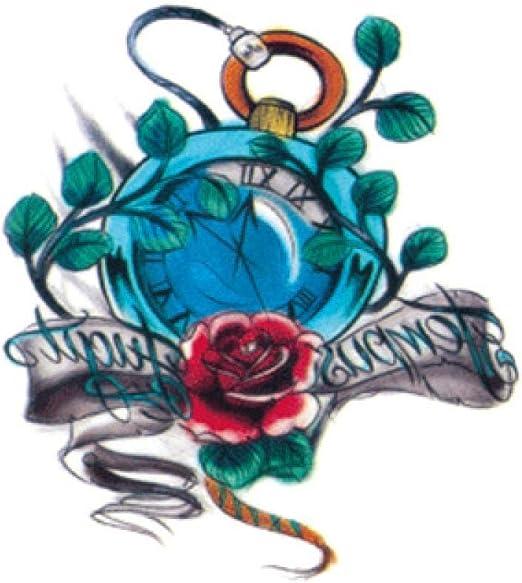 Handaxian Pegatinas de Tatuaje de Brazo de Flor Pegatinas de Medio ...