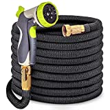 HYRIXDIRECT 50ft Garden Hose Lightweight Durable Flexible Water Hose with 3/4 Nozzle Solid