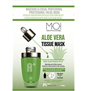 Pack 6 Mascarillas faciales Vitamin C Tissue Mask hidratante ...