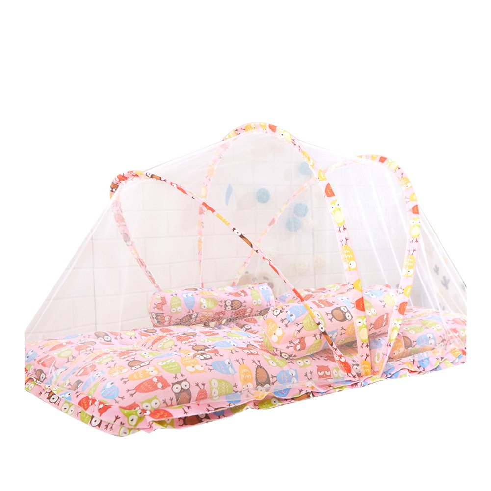 Infant Anti-Mosquito Cot Net Bed,Portable Crib Sleeping Tent Netting Baby Travel Canopy Kids (blue) Yannuo