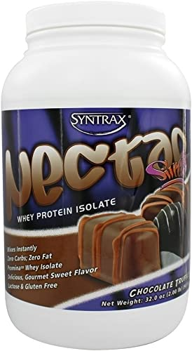 Syntrax Nectar Whey Protein Isolate Powder Chocolate Truffle – 2.12 lbs