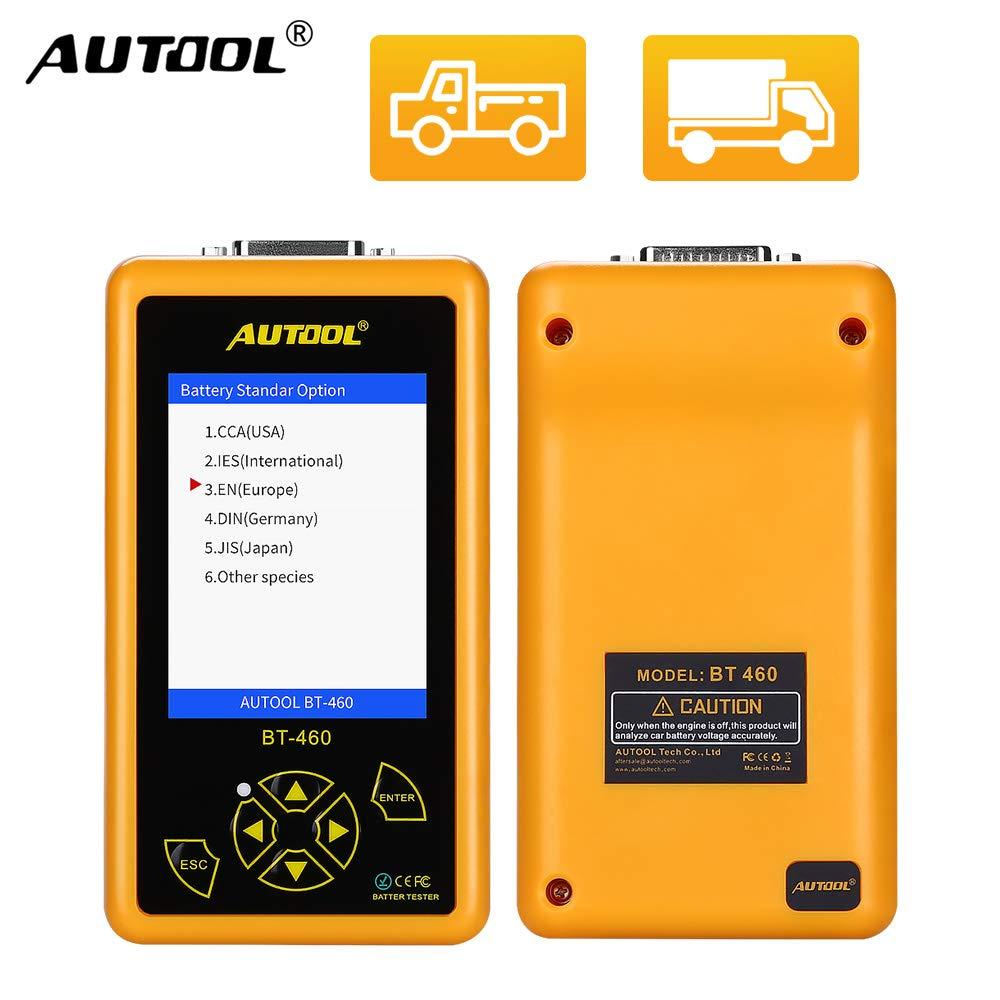 Autool Auto Batterie Tester BT460 Autobatterietester mit 4 Zoll Farbdisplay F/ür 12V 24V Auto Fahrzeug