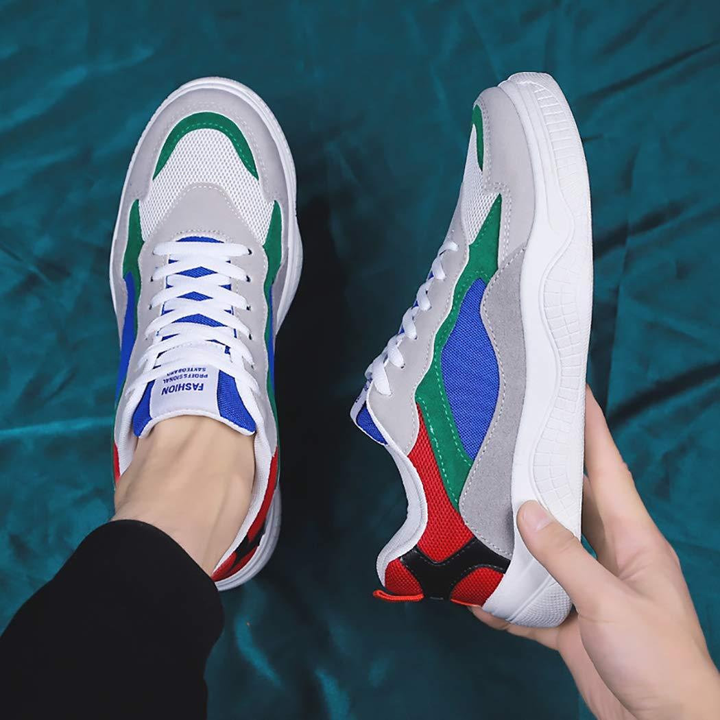 Mzq-yq Zapatos de los Hombres de Primavera Zapatos Transpirables Casuales Ligeros Zapatos Corrientes Ligeros Casuales Zapatos Deportivos Zapatos de Malla Inferior Gruesa de los Hombres Zapatos,Gris,41 c3b4e1