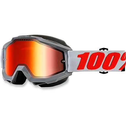Amazon.com  100% Accuri Solberg Snow Goggles Gray Mirrored Lens  Automotive c3058e2269ee9
