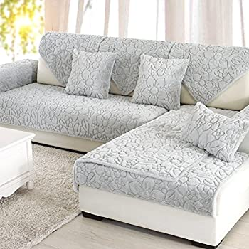 octorose chenille lace sofa arm covers grey 2pc 26x26 sofa arm cover home kitchen. Black Bedroom Furniture Sets. Home Design Ideas
