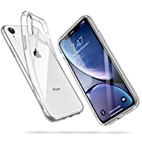 ESR Coque pour iPhone XR, Bumper Housse Etui de Protection Transparent en Silicone TPU Souple [Ultra Fin] [Ultra Léger] pour Apple iPhone XR (2018) 6,1 Pouces (Série Jelly, Transparent)