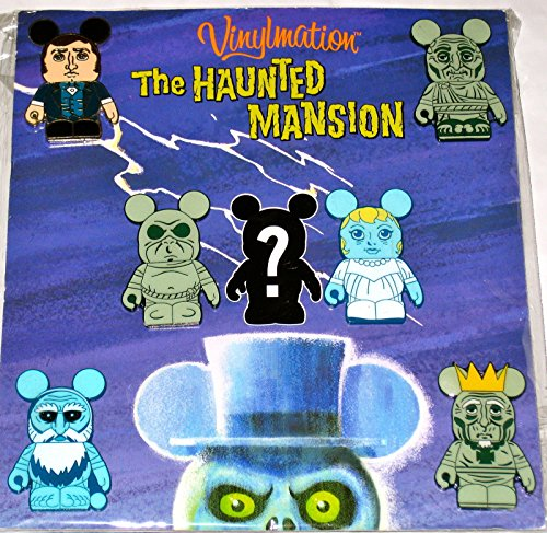 Authentic Disney Haunted Mansion Vinylmation Booster Set 7-Pin Includes Mystery (Mystery Pin Set)