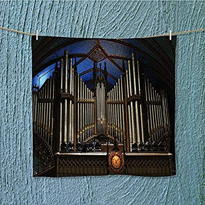 AuraiseHome towel barbig organ in basilica notre dame in montreal Multipurpose Quick Drying W9.8 x W9.8