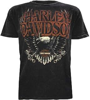 e8773210 Harley-Davidson Men's Muted Eagle Premium Short Sleeve T-Shirt, Black Wash