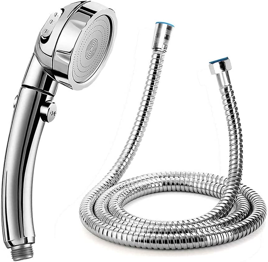 Handheld Shower Head with Hose (Without Bracket) - High Pressure Water Saving Showerhead with On/Off Pause Switch 3 Spray Modes and Stainless Steel Flexible Temperature Resistant 59 Inch Shower Hose