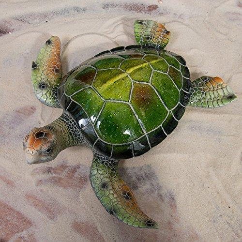 Sea Turtle Polystone Resin Green 15.75