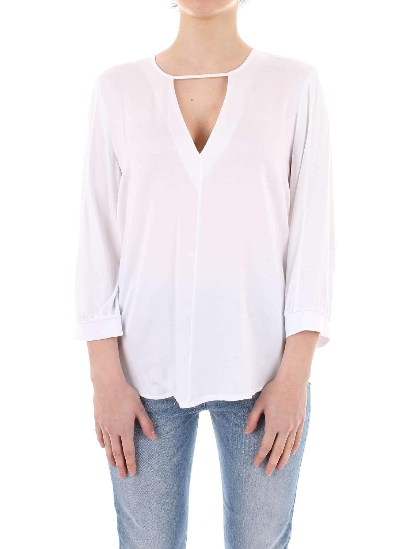 Manila Grace Women's P9JC073VUMD229 White Cotton Blouse