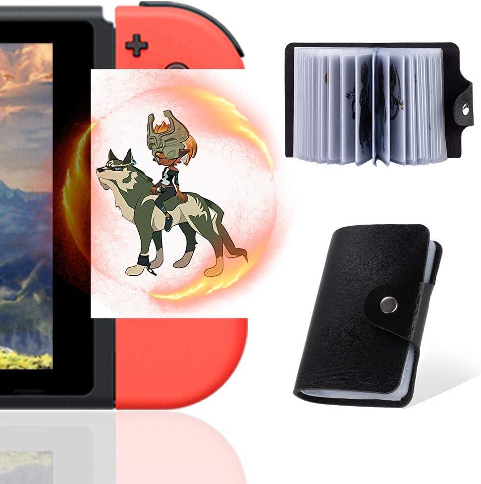 Tarjetas NFC para la leyenda de Zelda Breath of The Wild Botw Switch Wii U con elementos de caída en la parte posterior de la tarjeta, 24 piezas con soporte para tarjetas (tamaño estándar ZLD)