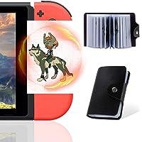 NFC-kort för The Legend of Zelda Breath of The Wild Botw Switch Wii U med dropartiklar på baksidan av kortet, 24 st med…
