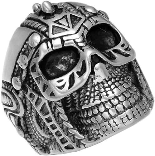 Unisex/'s Stainless Steel Skeleton Gothic Punk Skull Head Biker Finger Ring New