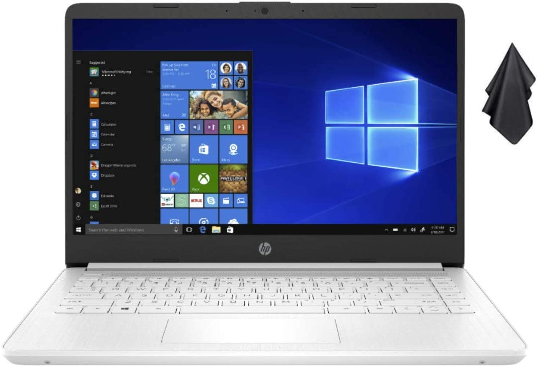 2021 Newest HP Stream 14-inch HD Non-Touch Laptop, Intel 2-Core N4020 up to 2.8 GHz, 4 GB RAM, 64 GB eMMC, WiFi, Webcam, Bluetooth, Windows 10 S with Office 365 Personal for 1 Year + Oydisen Cloth