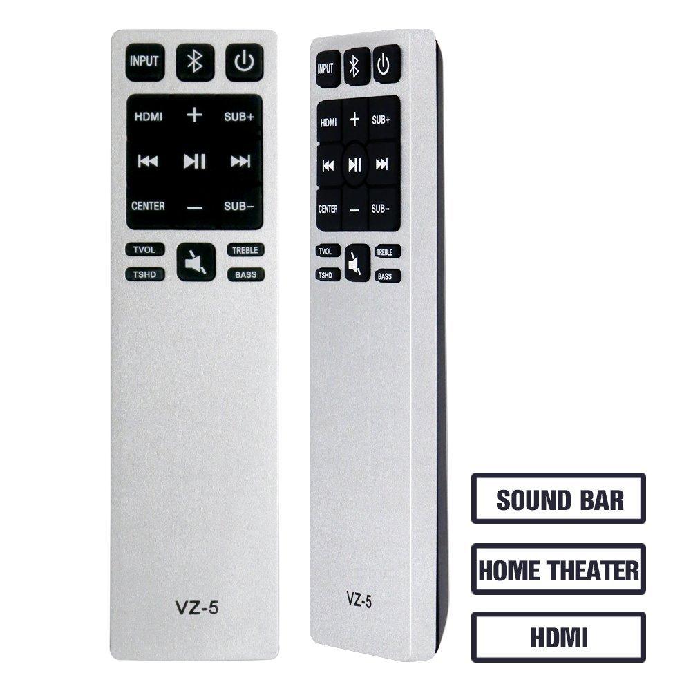 Gvirtue Universal Sound Bar Remote Control GVZ-5 CompatibleReplacement for Vizio Sound Bar/Home Theater Sound Bar Remote, Applicable S3820W-C0 S2920W-C0 S3821W-C0 SB3830-C6M SB3831-C6M by Gvirtue