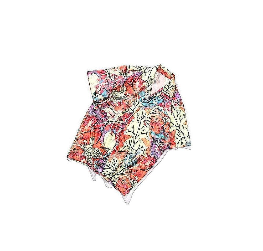 Multicolored-9,XX-Large ZXLLZ Casual Linen Hibiscus Indigo Flower tip Collar Shirt Men