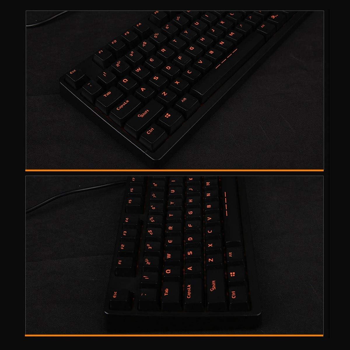 Entry-Level Five-Color Backlit Desktop Laptop PUBG//LOL Gaming Peripherals Blue//Black Key Axis Excellent Quality Color : Blue Black Keyboard 104 Keys Haoyushangmao Mechanical Keyboard