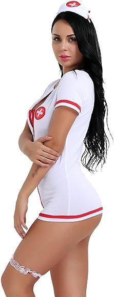 Agoky Disfraz de Enfermera Sexy para Mujer Adulto Cosplay Doctora ...