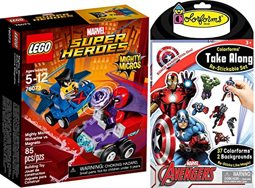 Joker Costume Walmart (Colorforms Take Along Go Stickable Set - The Avengers & Disney Marvel Super Heroes Mighty Micros Wolverine VS Magneto X-Men car vehicles)