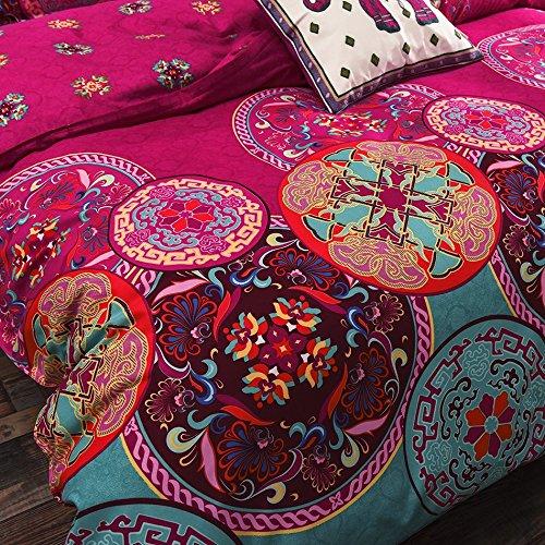 duvet cover set bedding king size bohemia pattern wrinkle resistant ebay. Black Bedroom Furniture Sets. Home Design Ideas
