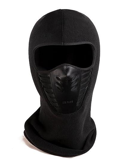 89afaf49db7 Zerd Winter Fleece Warm Full Face Cover Anti-dust Balaclava Windproof Ski  Mask Hat Black