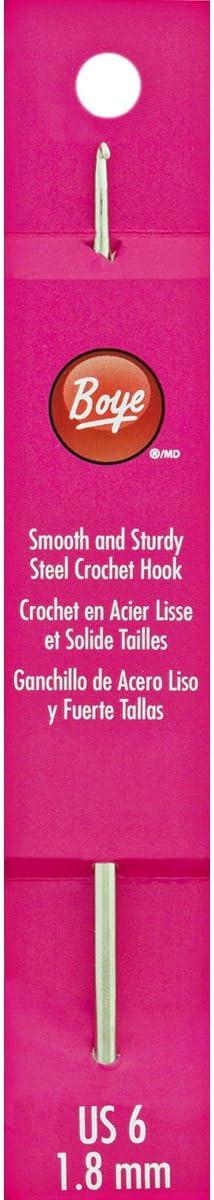 SIZE 8 BOYE STEEL CROCHET HOOK