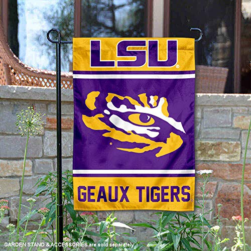 (College Flags and Banners Co. Louisiana State LSU Tigers Garden Flag)