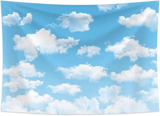 Allenjoy 7x5ft Stoff Blau Himmel Wolke Hintergrund Für Kamera