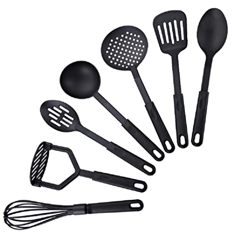 Amazon.com: Kitchen Utensils Sets 7 Piece Home Cooking Tools ...