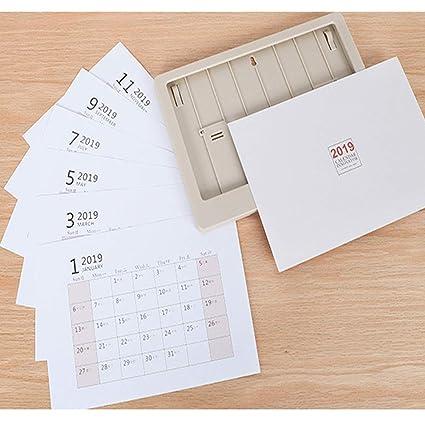Calendario de escritorio 2019: página mensual grande - 22 x 17 ...