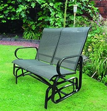 Garden Mile Schwarz Außen 2/3 Sitzer Garten Riemen Schaukelsitz  Schaukelstuhl Terrasse Möbel Entspannen